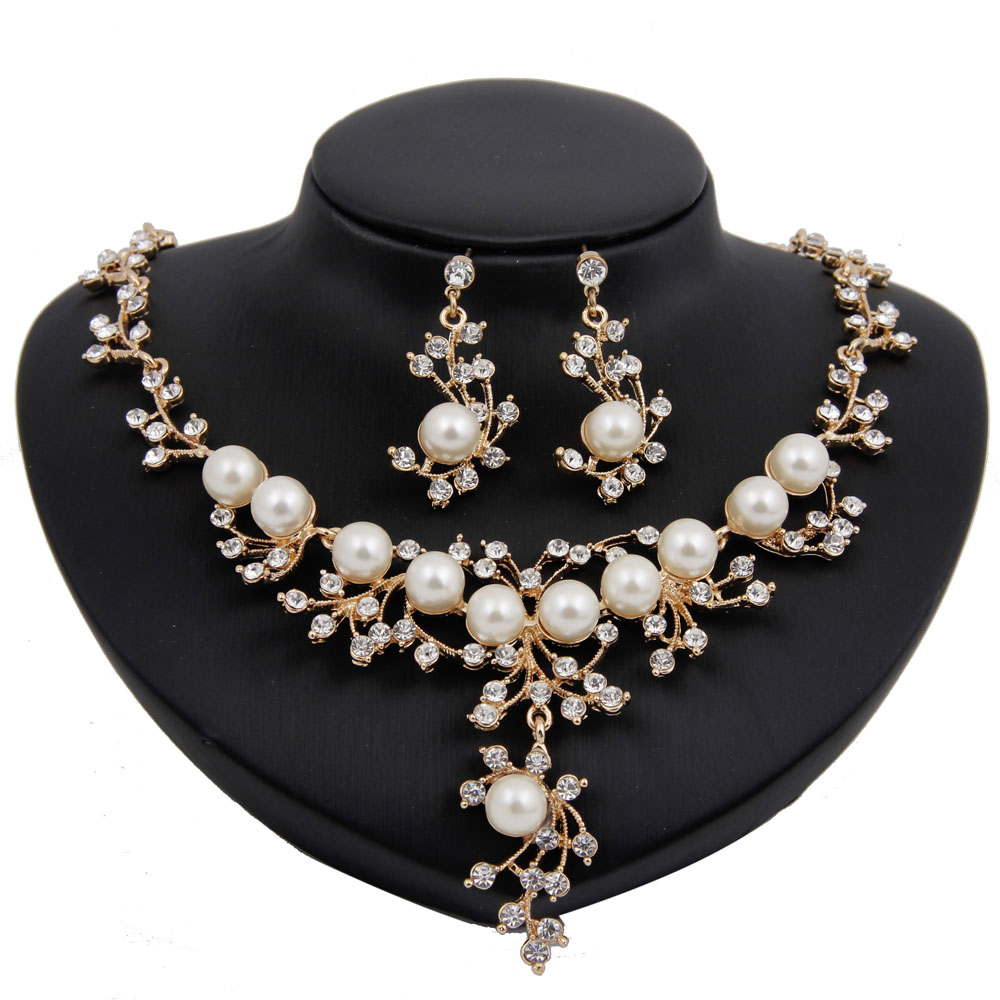 Aliexpress Com Buy New Fashion Necklace Earrings Bridal: Aliexpress.com : Buy New Design Imitation Pearl Beads