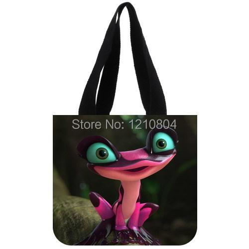Shopping Bag Rio 2 Gabi The Pink Frog Two Sides Custom Cotton Canvas Cool Shopping Tote Bag Fashionable Shopping(China (Mainland))