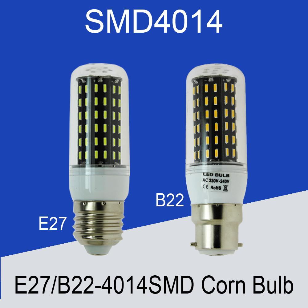 4014 SMD E26 B22 E27 LED Corn Bulb Lamp AC 110V 220V 230V 240V Led light 3W 5W 7W 10W 15W led spotlight(China (Mainland))