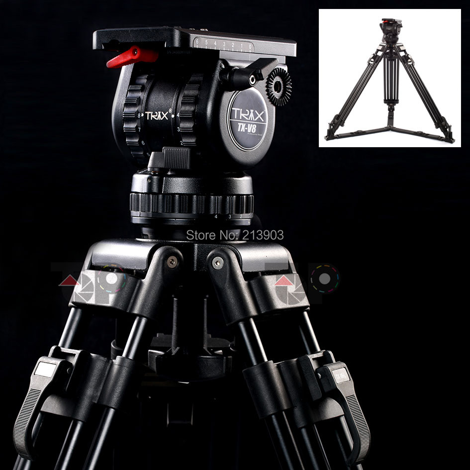 """Generic 66"""" V8 Pro Video Studio Photo Heavy Carbon Tripod And Head Kit With Soft Bag For Camera Movie Support(China (Mainland))"""