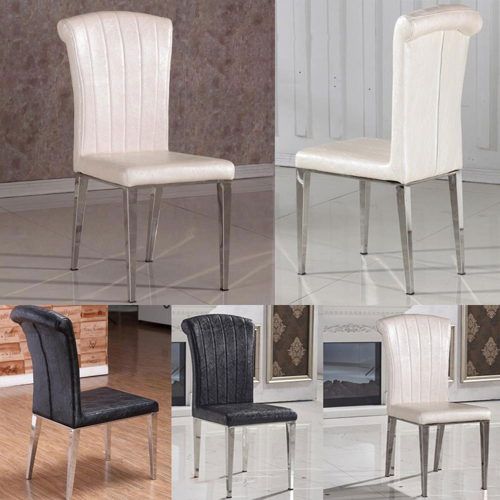 2015 classic chair stainless steel leather dining chairs for White dining room chairs