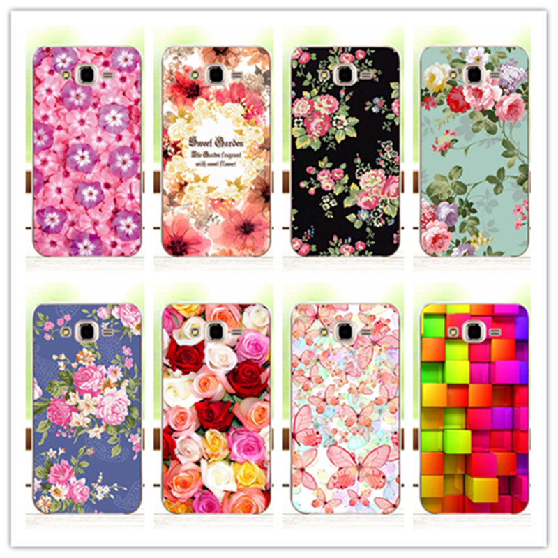Luxury Floral Painted Case For Samsung Galaxy J3 2016 J320 J320F J320P J3109 Cover Flower Case For Samsung J3 J320+Free Pen Gift(China (Mainland))