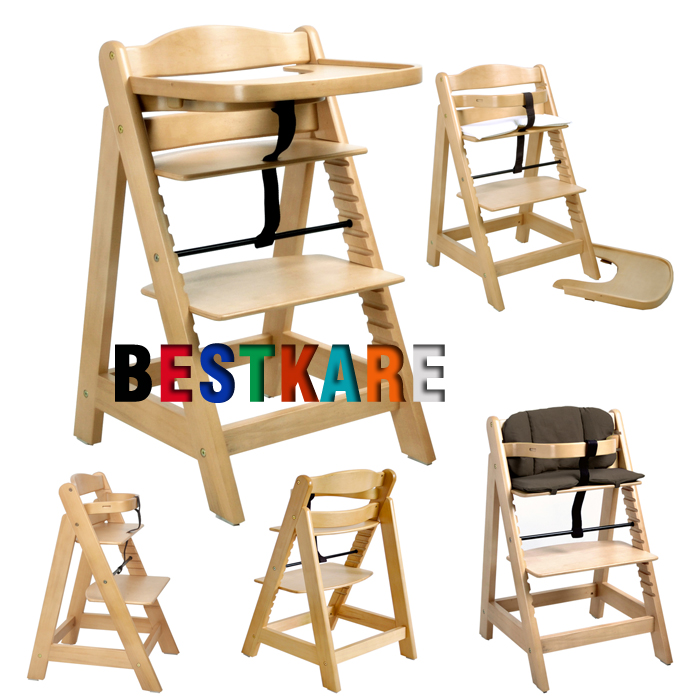 Фотография Multifunctional baby child solid wood dining chair baby dining chair solid wood baby chair with snacky tray