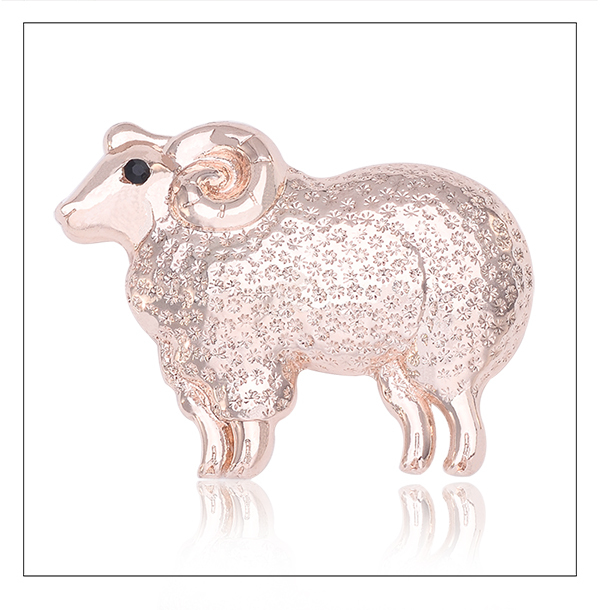 Fashion alloy gold jewelry wedding dresses womanclothes ebanl animal sacarfing luxury sheep brooches for sale safety pins X1571(China (Mainland))