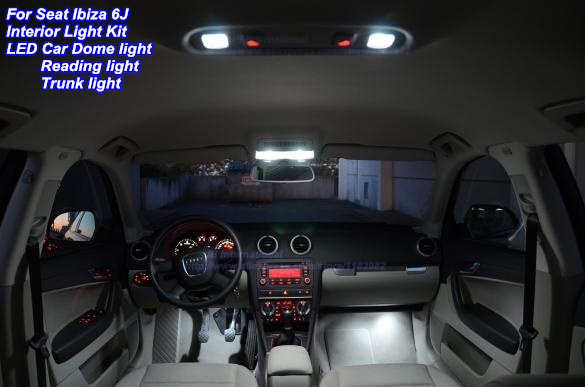 parking canbus interior led kit in xenon white for seat ibiza 6j led car led dome reading. Black Bedroom Furniture Sets. Home Design Ideas