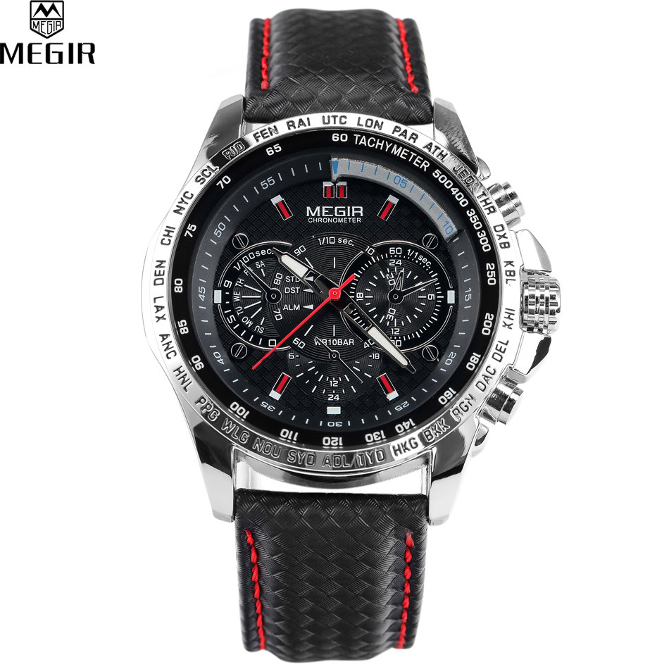 relogios masculinos Luxury Casual Sports Watch MEGIR Brand Quartz Waterproof Clock Watch Fashion Men