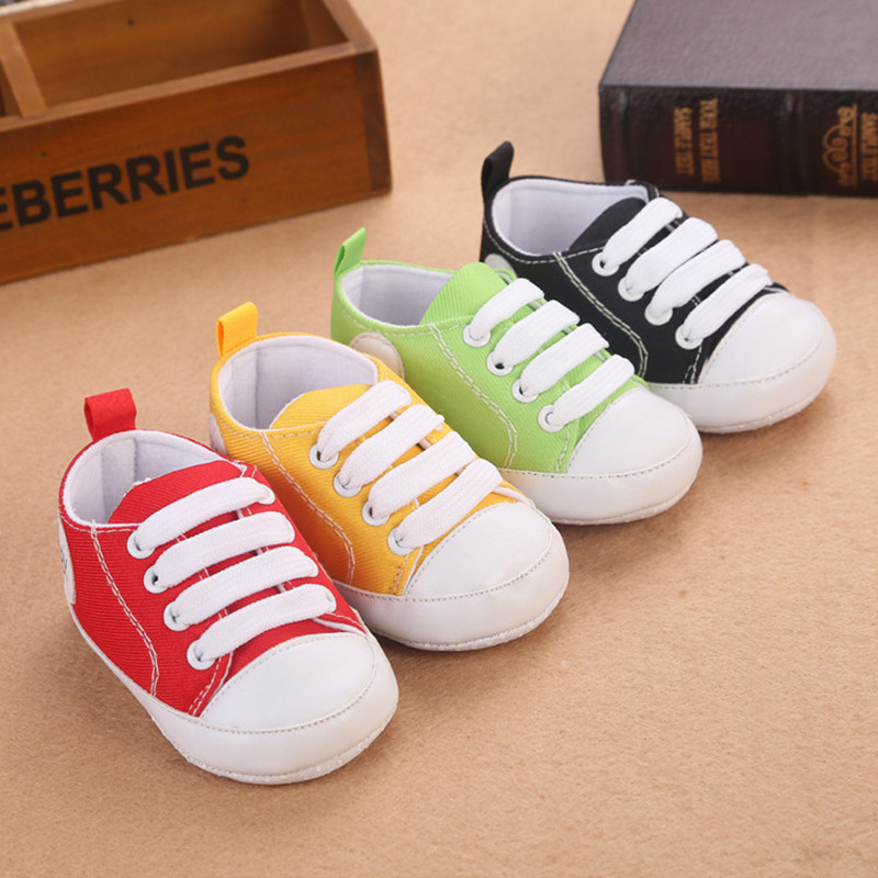 High Quality Colorful Baby Shoes Girls Boys Toddler Shoe 2016 Fashion Canvas Shoes Soft Prewalkers Casual First Walkers(China (Mainland))