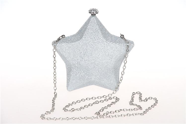 Fashion new design elegant star shape small handbag banquet bag fashion models PU luxury clasp evening bag clutch party bag(China (Mainland))