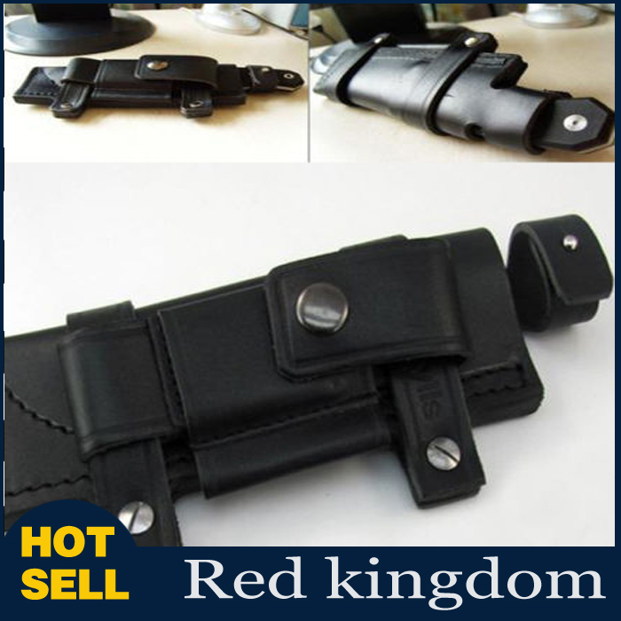 Straight Man made Leather Belt Sheath Scabbard 20x6 5cm For 7 Fixed Knife Black Color For