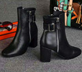 Genuine Leather Pointed Toe Women Martin Boots Top Brand Fashion King