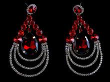 Elegant Lady's crystal Drop Earrings Luxury  fashion india style earrings rhinestone big women's earrings for gift jewelry