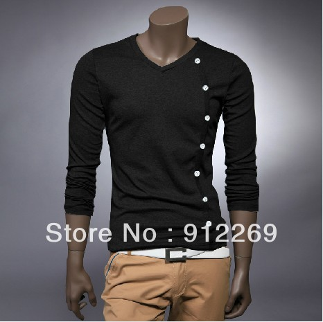 2013 original unique design mens t shirts long sleeve for Cool mens casual shirts