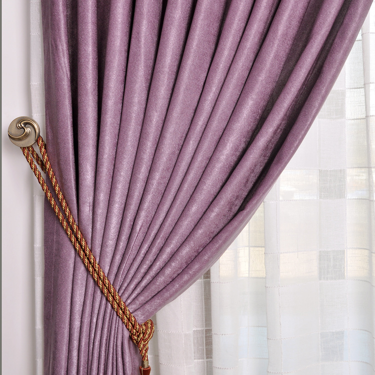 A Curtain Of Purple Cloth Upscale Bedroom Living Room Curtains Fabrics Finished Chenille Velvet