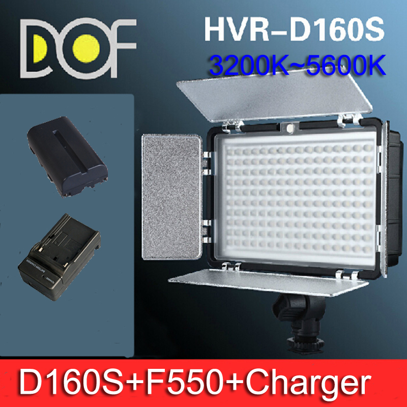 160 LED Photo Video Light +NP-F 550 battery +Charge DV DC DSLR Camcorder Camera - Fuzhou Microfilm Solution Co.,ltd store