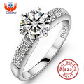 Big Promotion Wholesale 100 Solid 925 Silver Ring Fine Jewelry Inlay 1 5 Carat CZ Diamond