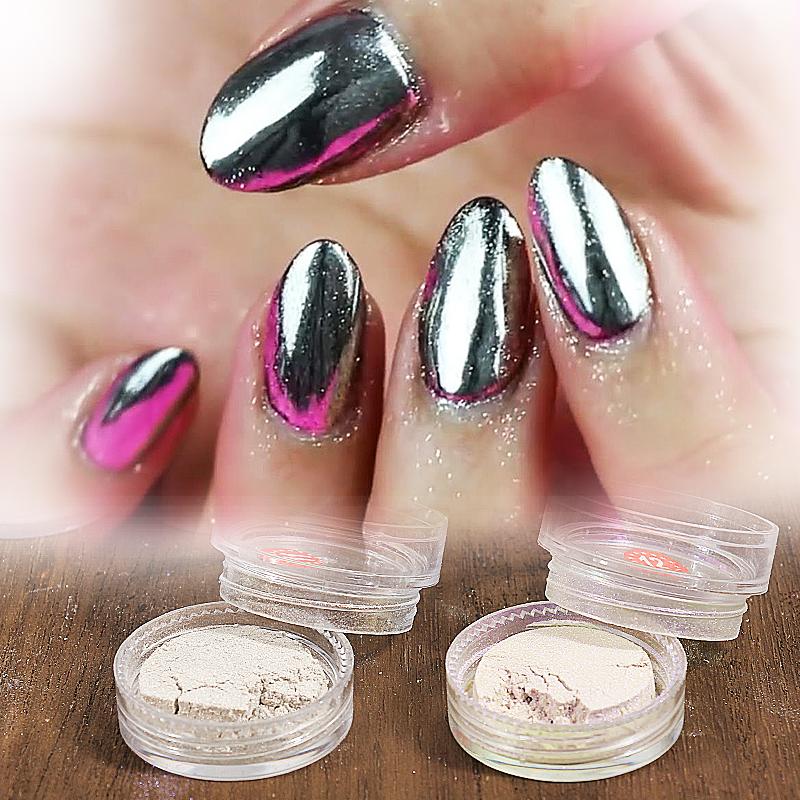 1g/Box 8 color Sliver Nail Glitter Powder Shinning Mirror Eye Shadow Makeup Ultrafine Powder Dust Nail Art Aluminium Powder(China (Mainland))