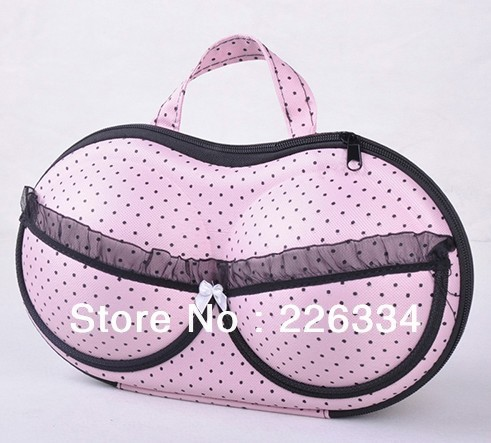 BRAND NEW BOW KNOT BRA brassiere  PORTABLE BAG TRAVEL USE Storage box bag free shipping