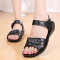Size35 41 2017 New Women Shoes Lady Sandals leather soft Bottom Non Slip Mother Sandals flat