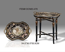 European Style Classical Porcelain Decorative End Table Luxury Antique Bronze Painted Side Table(China (Mainland))