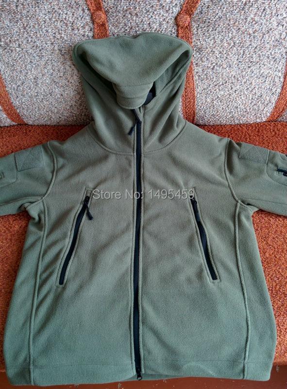 Спорт на открытом воздухе Военная Руно Теплые Мужчины Тактическая Куртка Тепловая Дышащий Капюшоном мужчины Пальто Куртки Верхняя Одежда TD-YCIDL-001