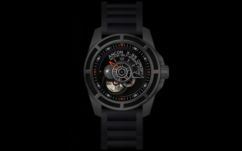 ANCON  X-35 CONCEPT X-35C105 New Arrival Orange Diving Watch with Rubber Strap<br><br>Aliexpress