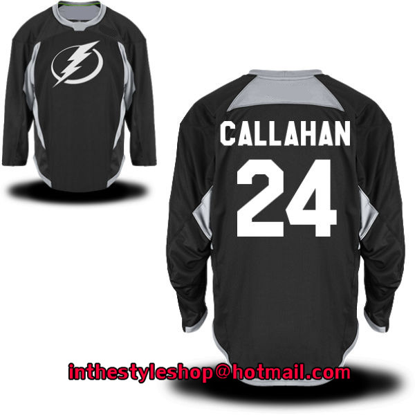 Men's 24 Ryan Callahan Team Ice Hockey Jersey With Double Stitched - Black(China (Mainland))