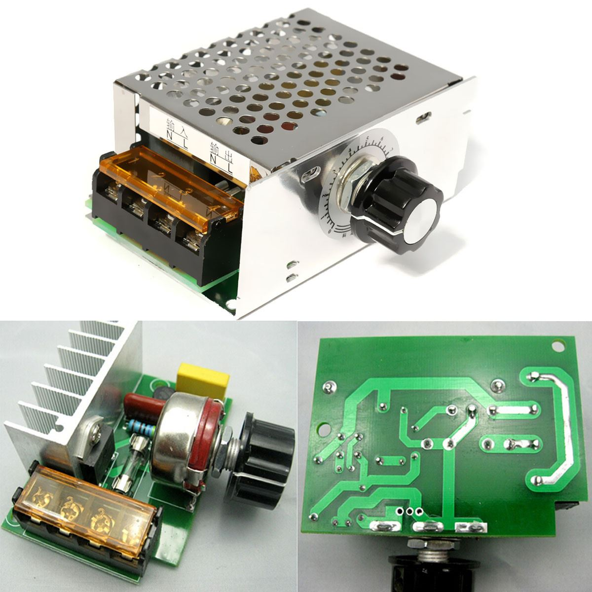 4000W 220V AC SCR Voltage Regulator Dimmer Electric Motor Speed Controller NEW(China (Mainland))