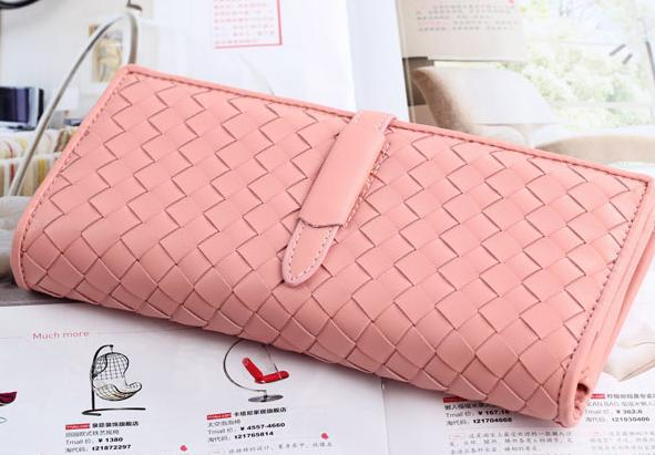 Genuine 2014 new Korean version of the influx of hand-woven plaid drawstring purse wallet fashion lady long section clutch(China (Mainland))