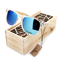 Bobobird Transparent Clear Color Wood Sunglasses Women s Cheap Bamboo Polarized Sunglasses With Wood Box UV