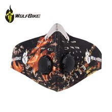 WOLFBIKE Anti-pollution Bike Bicycle Motorcycle Face Mask Outdoor Sports Mouth-muffle Dustproof with Filter Cycling Equipment