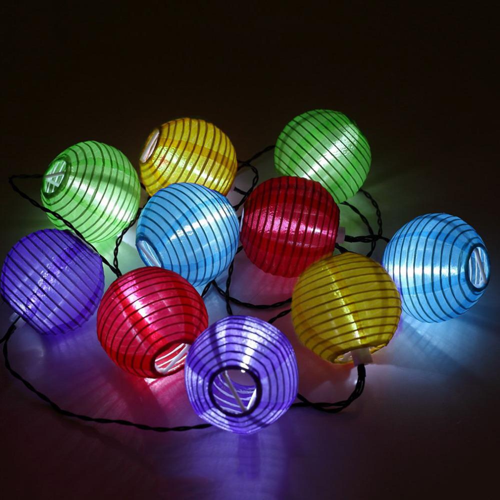 Hot Wholesale/retail Solar Power 10LED Lantern Fairy Multicolor Light String Party Outdoor Garden New<br><br>Aliexpress