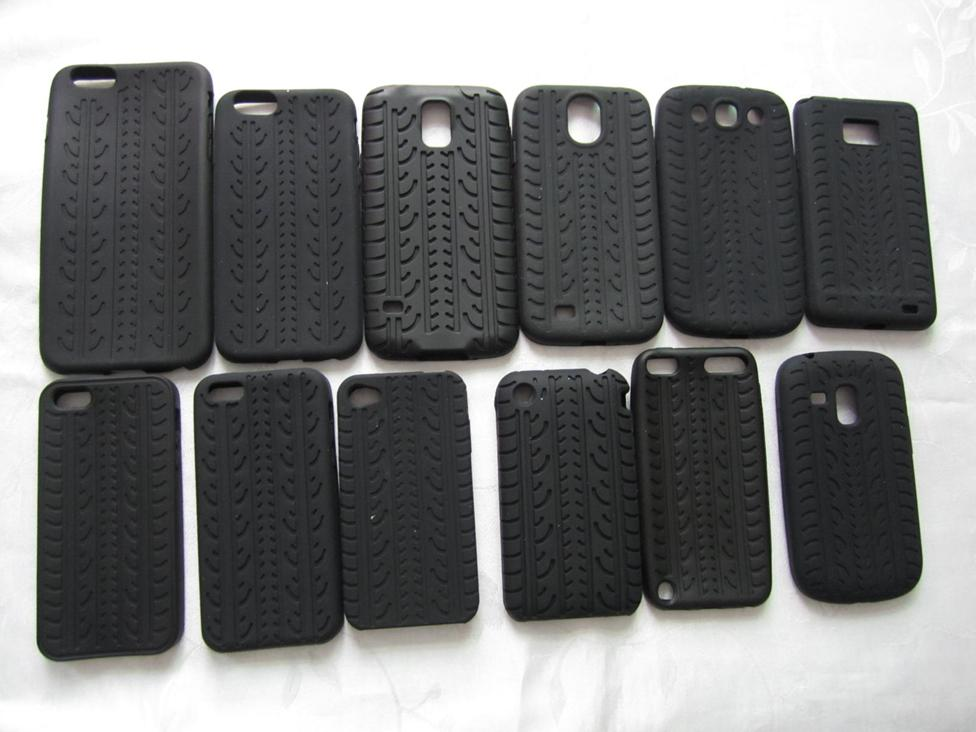 Tough Tire tyre Soft Case For Iphone 6 6S Plus 5 5S 4 4S 5C 3g 3gs Touch 5 Samsung Galaxy S5 S3 Mini S4 S2 Silicone Skin 500PCS(China (Mainland))