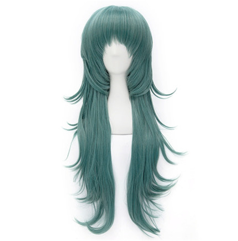 Tokyo Ghoul Long Cospaly Wig Green  Kaneki Wig 80cm  Peruca Cosplay Perruque Synthetic  Perruque Homme