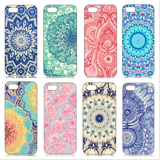 Hot Sale! Mandala Porcelain Flower Style Hard Back Phone Cover Case Funda Apple iPhone 4 4s 5 5s 5G 6 6s 4.7 inch - Sunfly Trading (HK store Co.,Ltd)