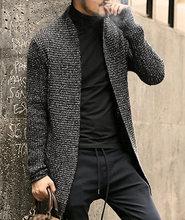 남자 스웨터 긴 소매 카디건 남성 당겨 스타일 카디건 의류 패션 두꺼운 따뜻한 모헤어 스웨터 남자 영국 스타일 핫 j511(China)