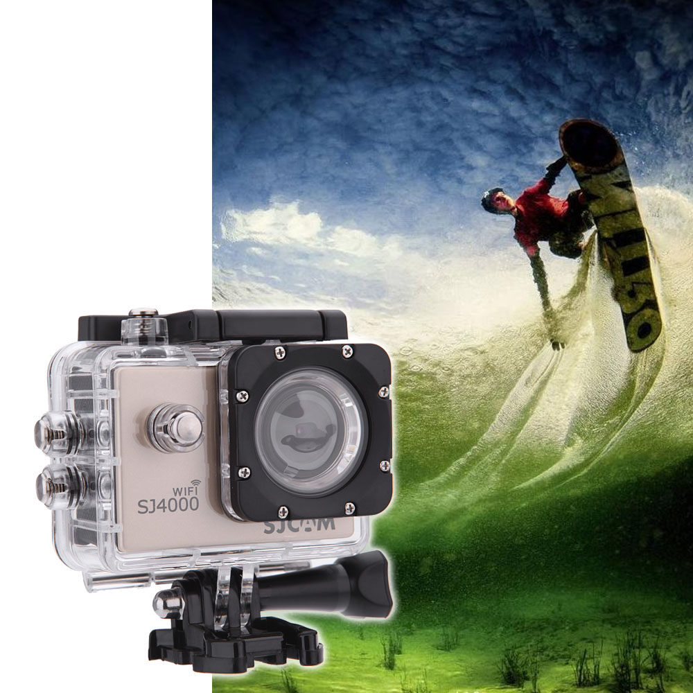 """SJCAM SJ4000 WiFi 1080P Full HD Action Camera Sport DVR 30M Waterproof 1.5"""" 170 Dgree Wide Angle Lens with Battery & USB Cable(China (Mainland))"""