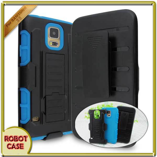 3 in1 Shell Phone For Samsung Galaxy Anti-knock Impact Rugged Silicone Hybrid Hard Defender Phone Case Cover For S5(China (Mainland))