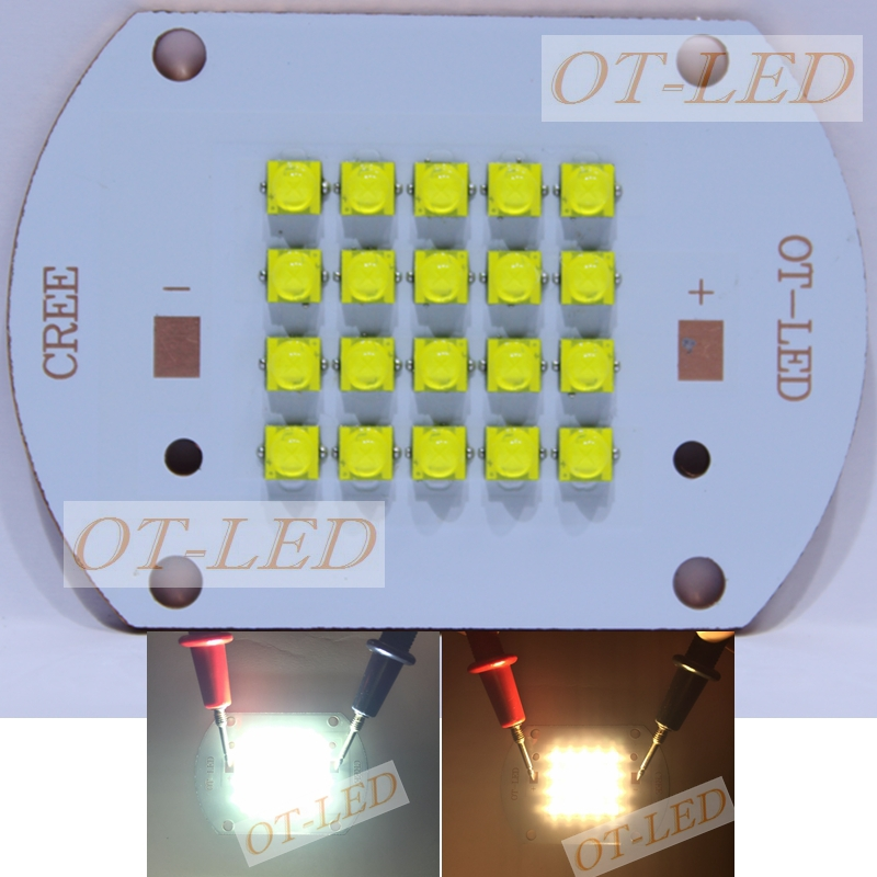 Cree XTE 100W Led White/Warm White High Power LED the thermoelectric separation Cooper PCB For House/Street Illumination(China (Mainland))
