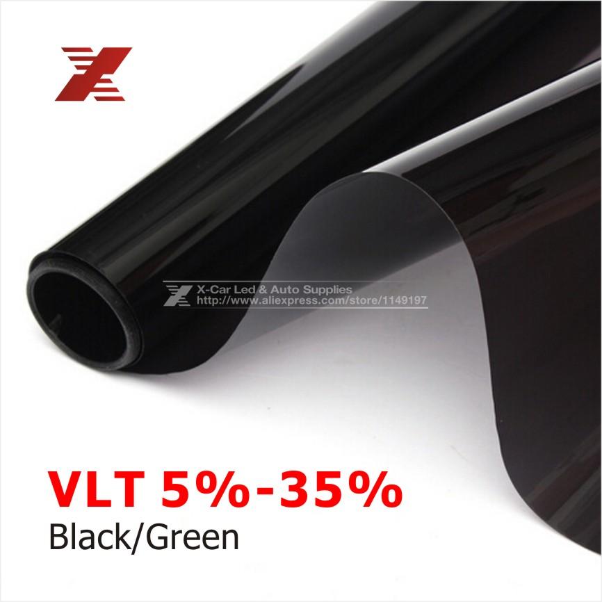 50x 300cm Dark Black Car Window Tint Film Glass VLT 5%/15%/25% Roll 1 PLY Car Auto House Commercial Solar Protection Summer(China (Mainland))