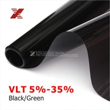 50x 300cm Dark Black Car Window Tint Film Glass VLT 5%/15%/25% Roll 1 PLY Car Auto House Commercial Solar Protection Summer(China (Mainland))