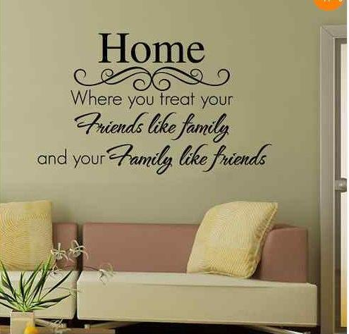2015-selling United States Family Friends in Europe and Australia carved wall stickers removable 40*70cm(China (Mainland))