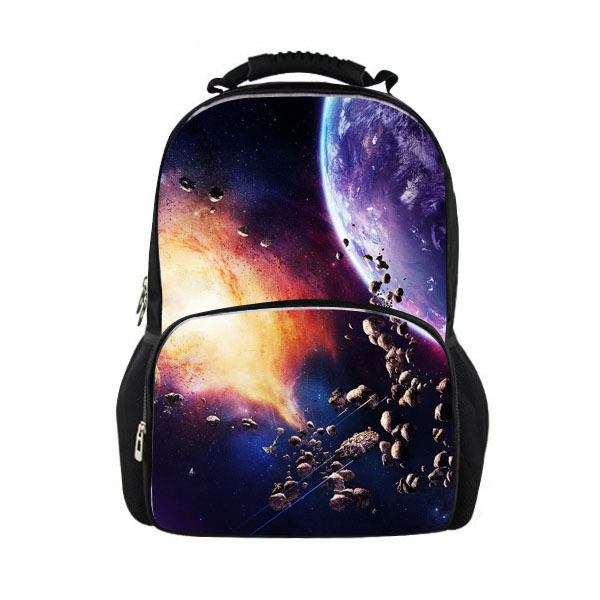 Promotion 3D Galaxy Printing Men's Travel Backpacks Outer Space for School Rucksack Meteor Casual Outdoor Bagpacks Child Bag(China (Mainland))