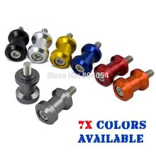 Titanium 10mm CNC Racing Swingarm Spools Sliders For Paddock Stand Fits For Kawasaki Ninja ZX6R 10R