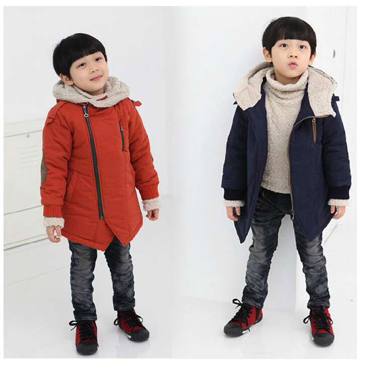 Гаджет  New 2014 children outerwear,kids hooded coats& jackets,autumn/winter clothing,Blue and orange color,baby clothing,Free shipping None Детские товары