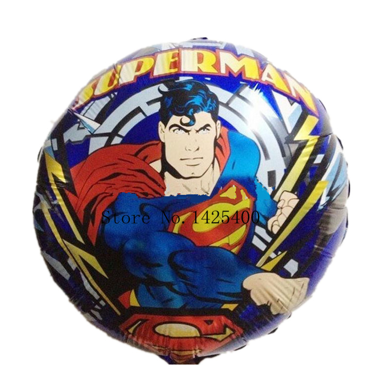 Free Shipping New circular shaped balloon cartoon Superman hydrogen new children's toys balloon wholesale(China (Mainland))