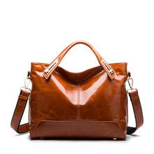 Europe Classic Retro Oil Wax bag Leather Postman Messenger Sac a Main Marques Designer Handbags High Quality On Sale Hand Bag