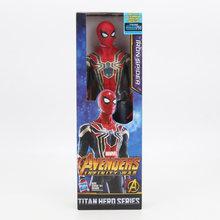 30 cm os vingadores super-herói figura aranha de ferro capitão américa pantera negra ironman collectible modelo bonecas brinquedos(China)