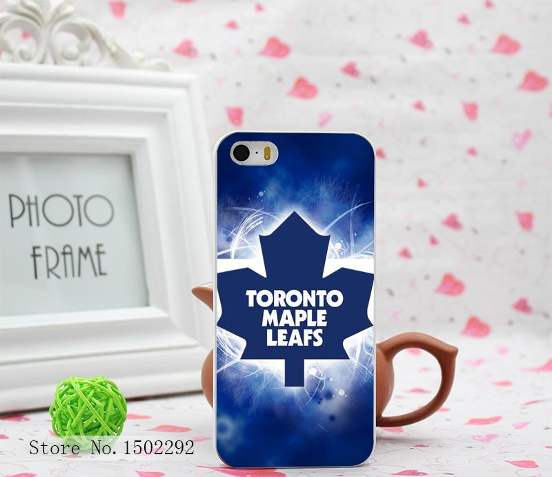 Toronto Maple Leafs Style Hard White Skin for iPhone 4 4s 4g 5 5s 5g Case Cover 1pc/lot(China (Mainland))