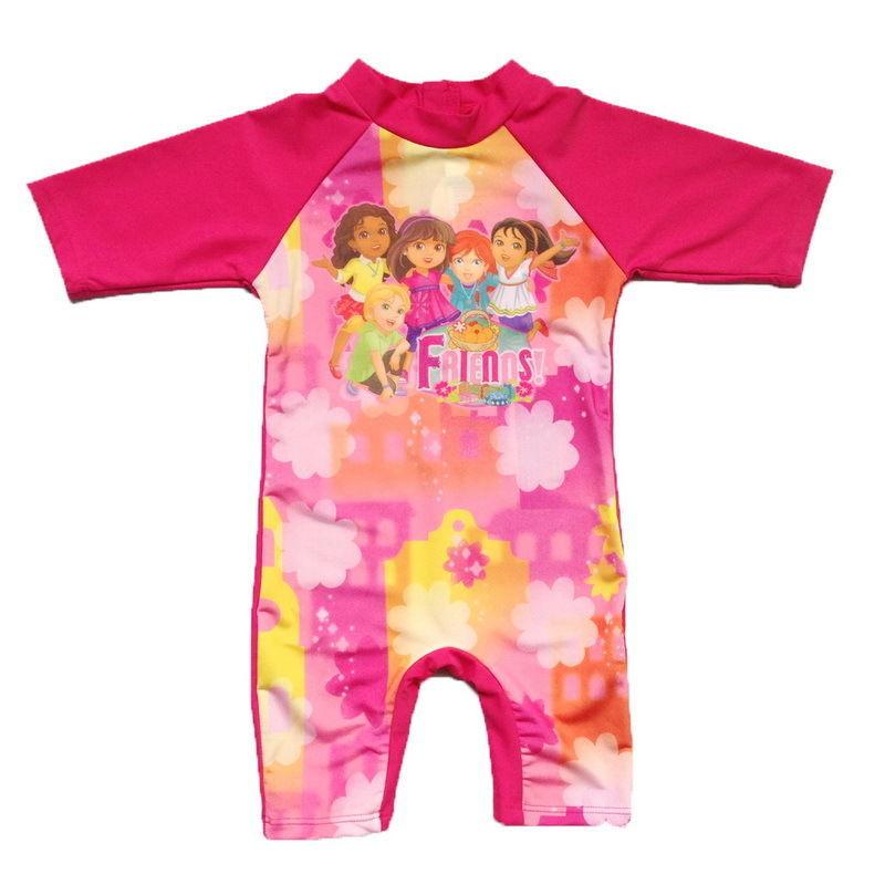 Traje De Baño Ninos Uv:-niñas-trajes-de-baño-niños-3-10-T-Good-Friends-Floral-traje-de