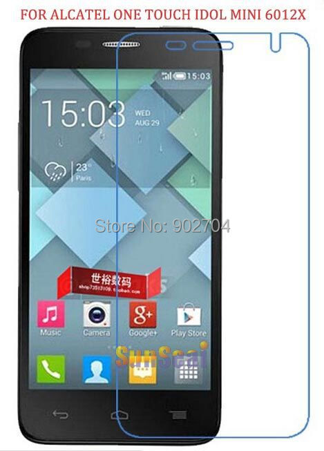 Clear Screen Protector Alcatel One Touch Idol mini 6012X 6012D Protective Film Without Retail Package - Sunseai Official Store store